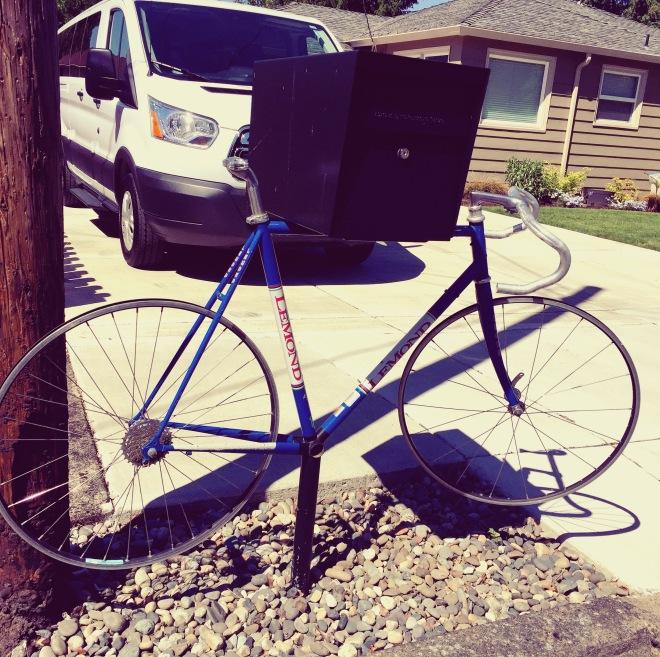 Lemond mailbox bike.